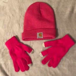 Accessories - Carthartt Hat and Gloves. Small gloves.